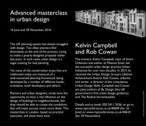 Advanced Masterclass in Urban Design @ London | England | United Kingdom